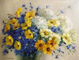 Bouquet Mit Kornblumen #11672