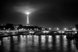 Eifeltower Lights Bw #11816