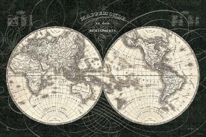 French World Map I Black and White #44666