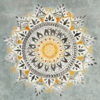 Mandala Delight I Yellow Grey #45668
