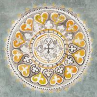 Mandala Delight III Yellow Grey #45670