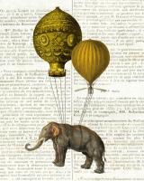 Elephant Ride II v2 Newsprint #47864