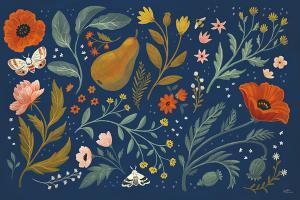 Blue Botanical I #48600