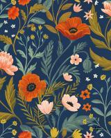 Blue Botanical Pattern IB #48606