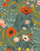 Blue Botanical Pattern IE #48609