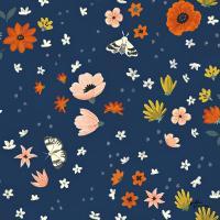 Blue Botanical Pattern IIA #48610