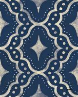 Blue Botanical Pattern IVA #48613