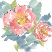 Peony in the Pink I on White #49546