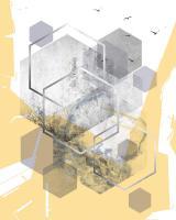 Yellow Grey Abstract Hexagons 1 #50979