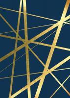 Metallic Lines Navy 1 #51932