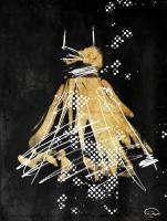 Gold Dress White Dots Two #52868