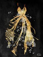 Gold Dress White Dots Three #52869