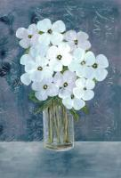 White Floral Blues #52966