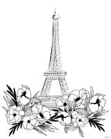 Eiffel BlackWhite #53127