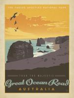 VINTAGE ADVERTISING 12 APOSTLES GREAT OCEAN ROAD VICTORIA AUSTRALIA #JOEAND 116752
