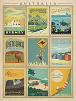 VINTAGE ADVERTISING AUSTRALIA MONTAGE SYDNEY MELBOURNE GREAT BARRIER REEF #JOEAND 116754