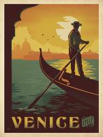 VINTAGE ADVERTISING VENICE GRAND CANAL GONDOLA ITALY #JOEAND 116789