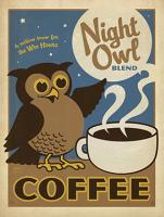 VINTAGE ADVERTISING NIGHT OWL COFFEE #JOEAND 116837