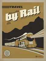VINTAGE ADVERTISING TRAVEL BY RAIL TRAIN USA #JOEAND 116843