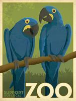 Zoo vintage cockatoo birds #JOEAND116848