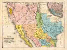 Map of California, New Mexico #BE113603