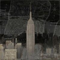 Vintage New York in Black I #DLM111726