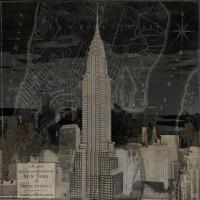 Vintage New York in Black II #DLM111727
