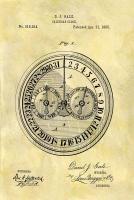 Calendar Clock, 1885 #DSP112860
