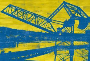 Ballard Train Trestle - Blue and Yellow #88134