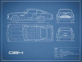 Aston DB4 -Blue #RGN112706