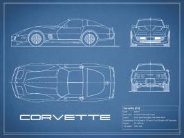 Corvette C3-Blue #RGN112721