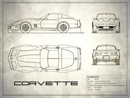 Corvette C3 White #RGN113194