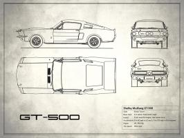 Shelby Mustang GT500 White #RGN113217
