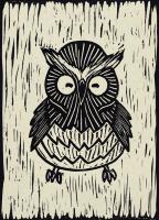 Owl Linocut #90960