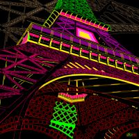 Tour Eiffel at night colors #IG 7498
