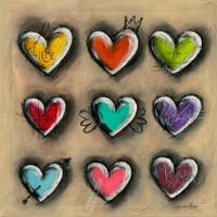 Colored Hearts III #IG 7700
